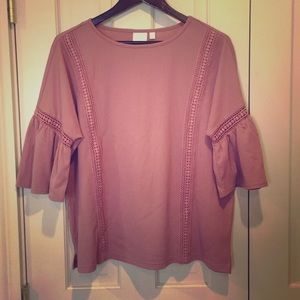 •LAUREN CONRAD BELL SLEEVE TOP•